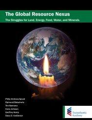 The Global Resource Nexus - Robert Bosch Stiftung