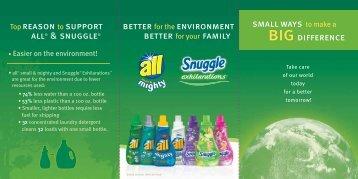 TopREASON to SUPPORT ALL® & SNUGGLE ... - Walmart.com