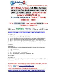 [2018-7-Version]New Braindump2go JN0-102 Dumps with PDF and VCE 418Q&As Free Share(16-30)