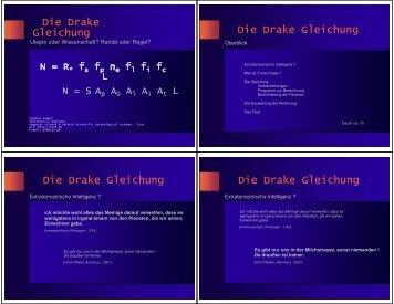 Die Drake Gleichung
