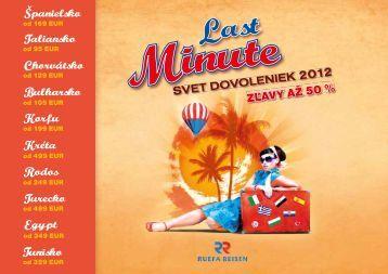 Last minute katalóg Svet dovoleniek 2012 (pdf - 5 - Ruefa Reisen