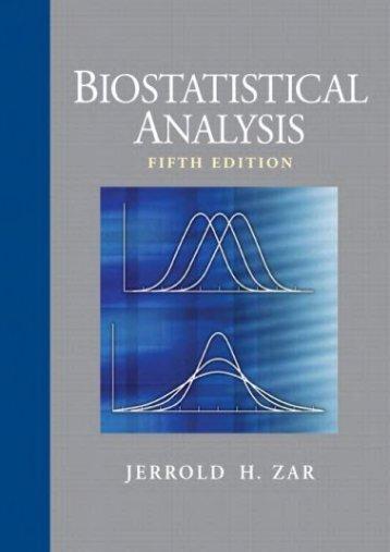 Download biostatistical analysis 5th by jerrold h. Zar (international….