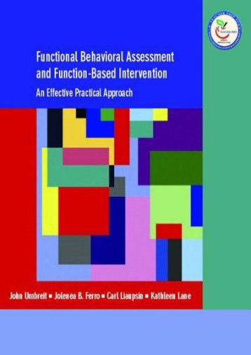 Read Functional Behavioral Assessment and Function-Based Intervention: An Effective, Practical Approach - John Umbreit [Full Download]