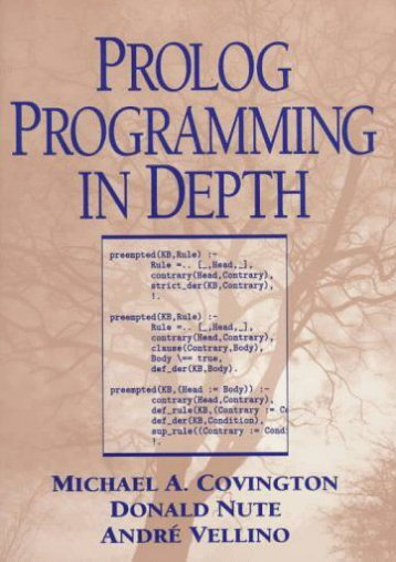 Download Prolog Programming in Depth - Michael A. Covington [PDF File(PDF,Epub,Txt)]