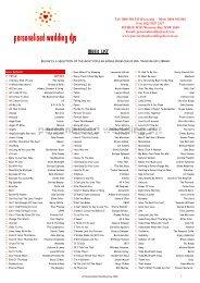 Copy of Personalised Wedding DJs Music List