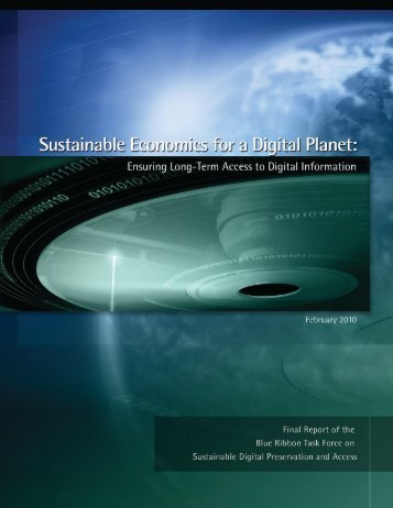 Sustainable Economics for a Digital Planet - Blue Ribbon Task ...