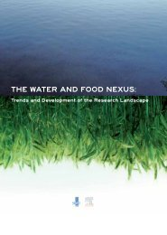 THE WATER And FOOd nExus: - SciVal