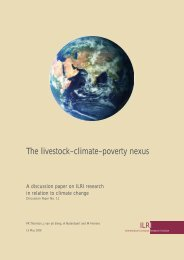 The livestock–climate–poverty nexus - International Livestock ...