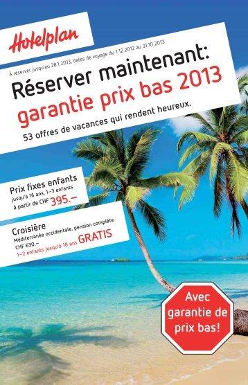 Prix fixes enfants - ES Voyages et Vacances SA