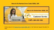Steps to fix Norton Error 3038, 104 Call 1-800-658-7602