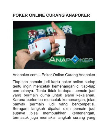 POKER ONLINE CURANG ANAPOKER