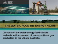 THE WATER, FOOD and ENERGY NEXUS - Water Research ...