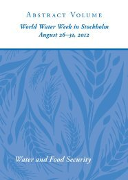Abstract Volume Water and Food Security - World Water Week