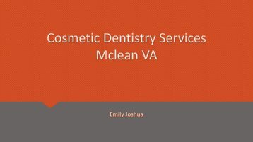 cosmetic dentistry services Mclean VA