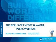 The NEXUS of Energy and Water