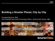Building a Smarter Planet, City by City - Infocomm Industry Forum 2011