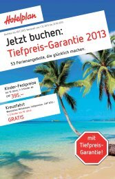 Kinder-Festpreise - FRI Travel