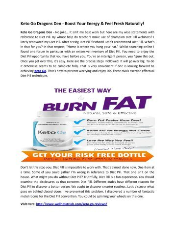 Keto Go Dragons Den - Burn Fat & Suppress Your Appetite Naturally!