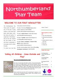 Northumberland Play Team Newsletter 2010 test