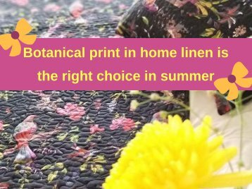 Botanical print in home linen is the right choice in summer