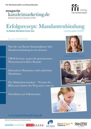 """eMagazin kanzleimarketing.de: Sonderausgabe """"Erfolgsrezept Mandantenbindung"""""""