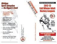 2012-13 Fall/Winter Adult Hockey Leagues - Michigan Sports ...