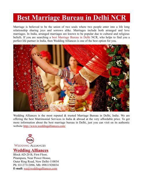 Best Marriage Bureau in Delhi NCR