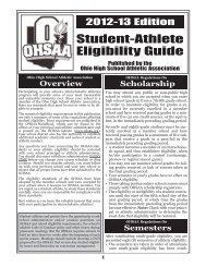 Student-Athlete Eligibility Guide - Ohio High School Athletic ...