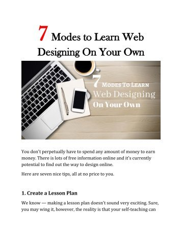 7 Modes to Learn Web Designing On Your Own