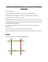 Drills and Conditioned Games To Improve and Develop Team-Play