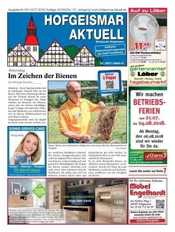 Hofgeismar Aktuell 2018 KW 29