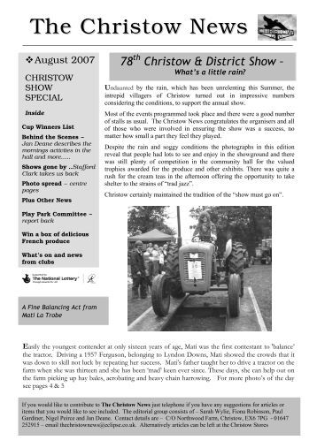 The Christow News