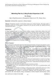 Marketing Plan For Li-Ning Product Expansion In - IERI: Information ...