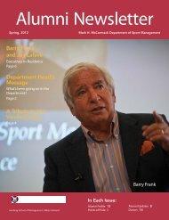 Alumni Newsletter April 2012 - Isenberg School of Management ...