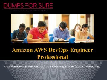 AWS DevOps Engineer Professional Dumps