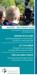 Veranstaltungsprogramm des Evangelischen Kirchenkreises Halle-Saalkreis für August und September 2018
