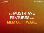 The Must-have Features in an MLM Software