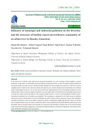 Influence of municipal and industrial pollution on the diversity and the structure of benthic macro-invertebrates community of an urban river in Douala, Cameroon