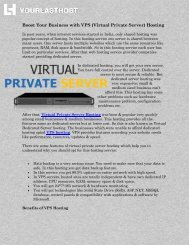 Boost Your Business with VPS (Virtual Private Server) Hosting