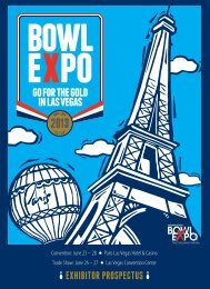 SHOW BENE EXHIBITOR PROSPECTUS - International Bowl Expo