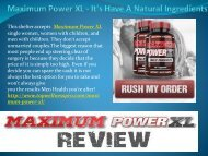 Maximum Power XL - It's Have A Natural Ingredients.output
