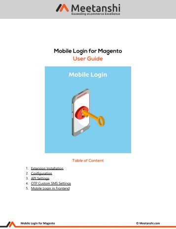 Magento Mobile Login