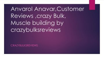 2018 Anvarol (Anavar Alternative) Review: Ingredients,Side Effects ...