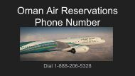 Oman Air Reservations Phone Number