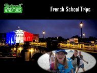 French School Trips Book at Good Prices