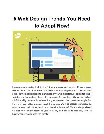 5 Web Design Trends You Need to Adopt Now!