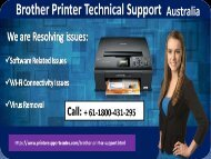 Brother printer support number Australia +61-1800-431-295