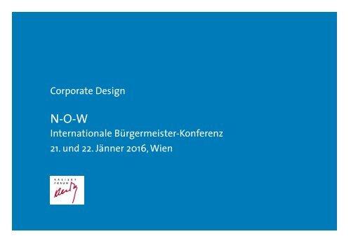 Corporate Design NOW BürgermeisterInnenkonferenz