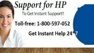 HP Support Number  1-800-597-1052